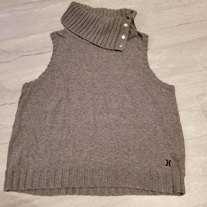 HURLEY knit versatile turtle neck tank top